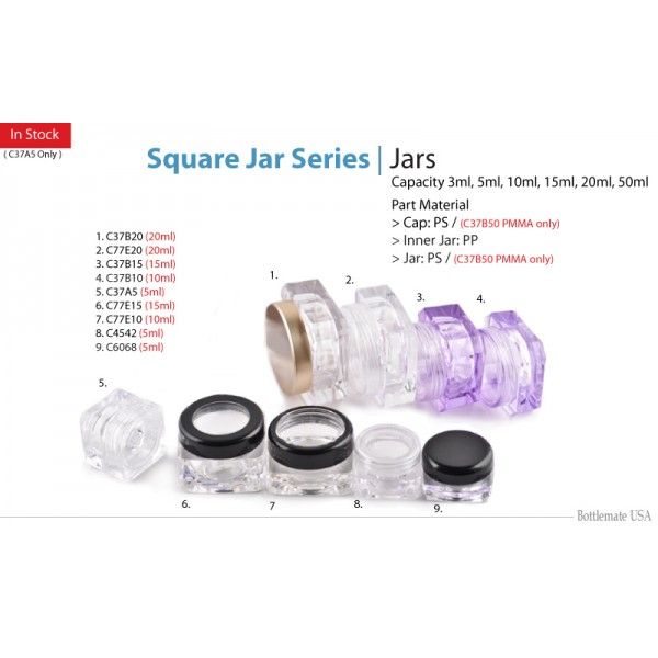 Assorted Square Jars
